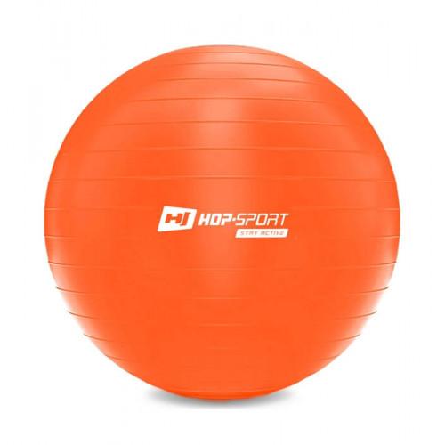 Фитбол Hop-Sport 55 см оранжевый + насос 2020