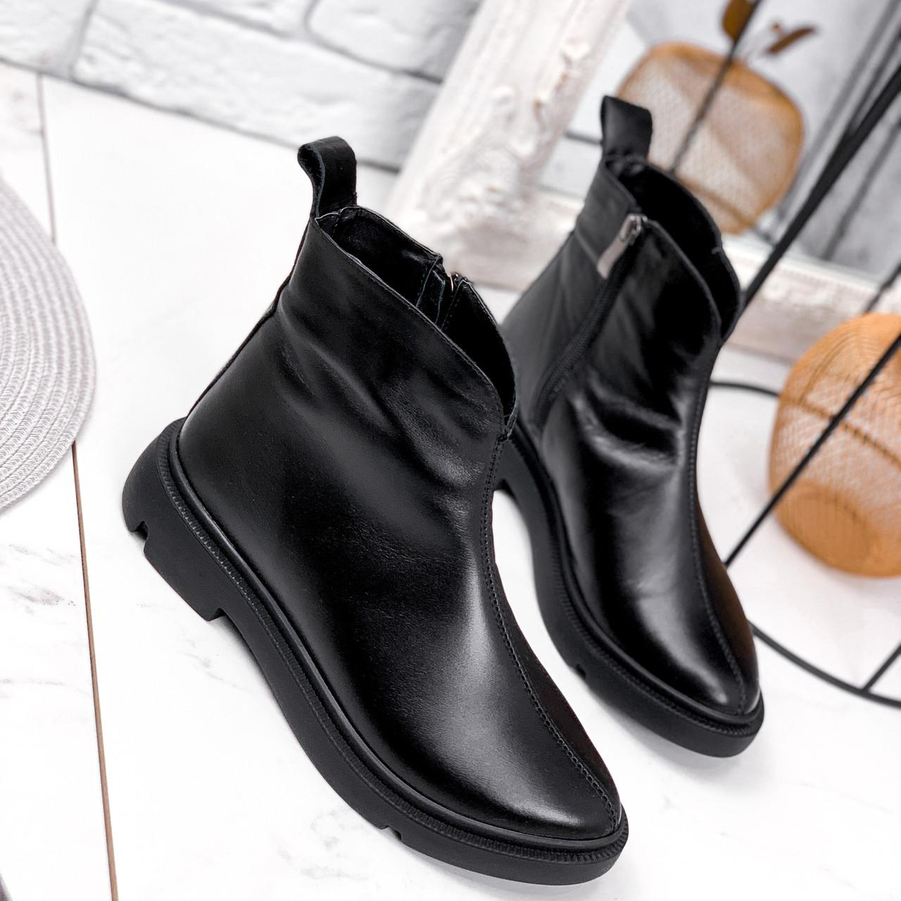 Ботинки женские Orest черные ЗИМА 2582