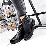 Ботинки женские Orest черные ЗИМА 2582, фото 4