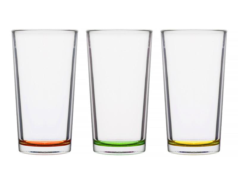Высокие стаканы Cerve s.p.a. Италия Цитрус 250мл 3пр
