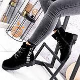 Ботинки женские Leslie замшевые ЗИМА 2576, фото 5