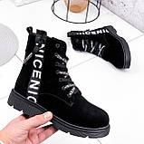Ботинки женские Leslie замшевые ЗИМА 2576, фото 7