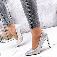 Туфли женские Venus серебро 2575