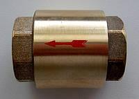 Клапан обратный муфтовый Ду 20 вставка  латунь