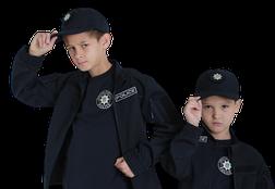Бейсболка блайзер детская Полиция цвет темно-синий воронье крыло, фото 3