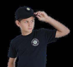 Бейсболка блайзер детская Полиция цвет темно-синий воронье крыло, фото 2