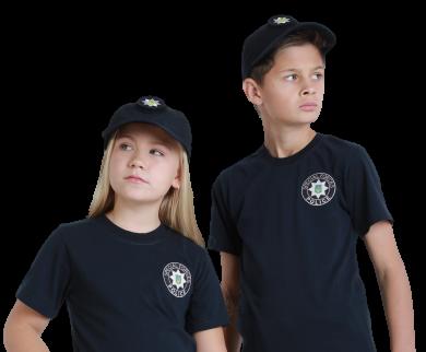 Бейсболка блайзер детская Полиция цвет темно-синий воронье крыло