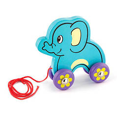 Дерев'яна каталка Viga Toys Слоненя (50091)