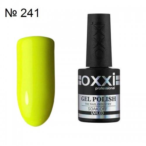 Гель-лак Oxxi professional (10 мл) №241 (неоновый желтый, эмаль)