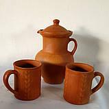 Набір керамічний глек та горнята №1, фото 3