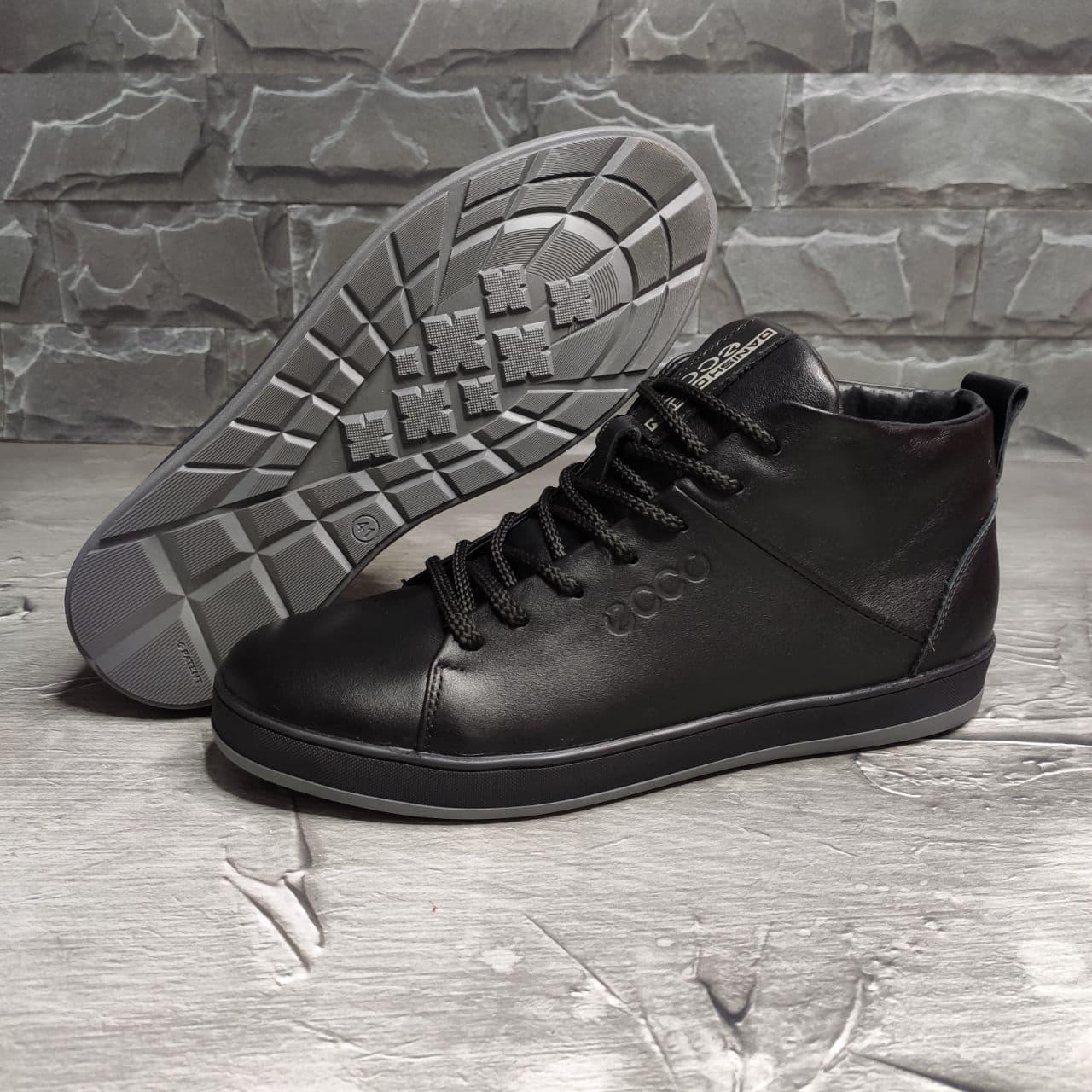 Мужские зимние ботинки Ecco OS166 черные