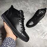Мужские зимние ботинки Ecco OS166 черные, фото 2