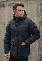 Зимняя куртка Staff basic2 dark gray, фото 1