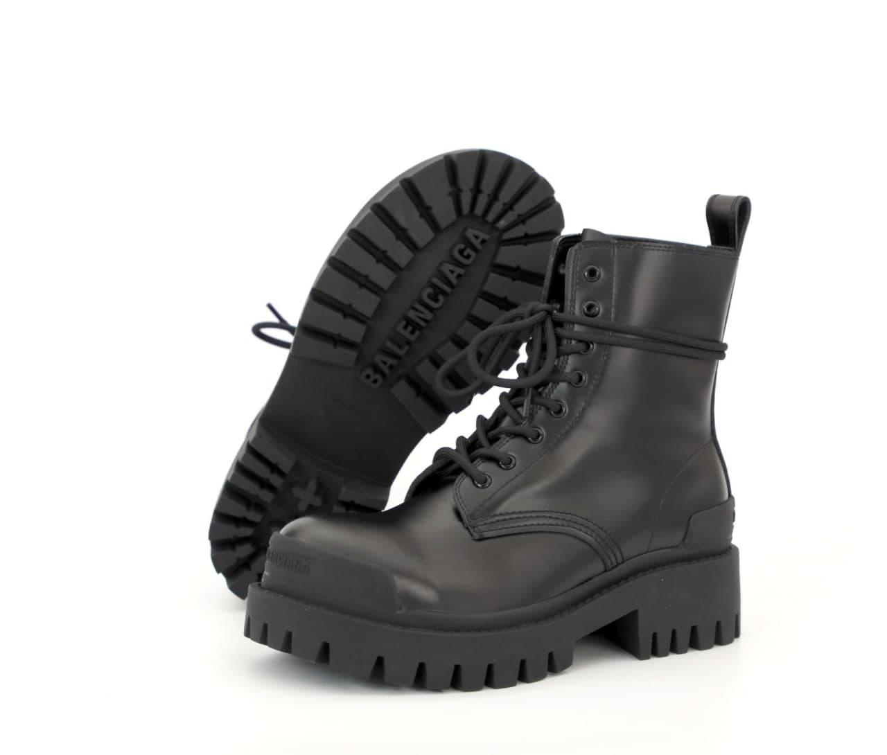 Женские ботинки Bаlenсіagа Strike 31864 черные