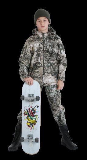 Костюм детский камуфляжный OUTDOOR Вулкан теплый StormWall на флисе цвет TERRA