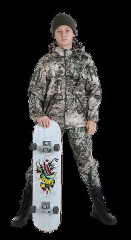 Костюм детский камуфляжный OUTDOOR Вулкан теплый StormWall на флисе цвет TERRA, фото 2