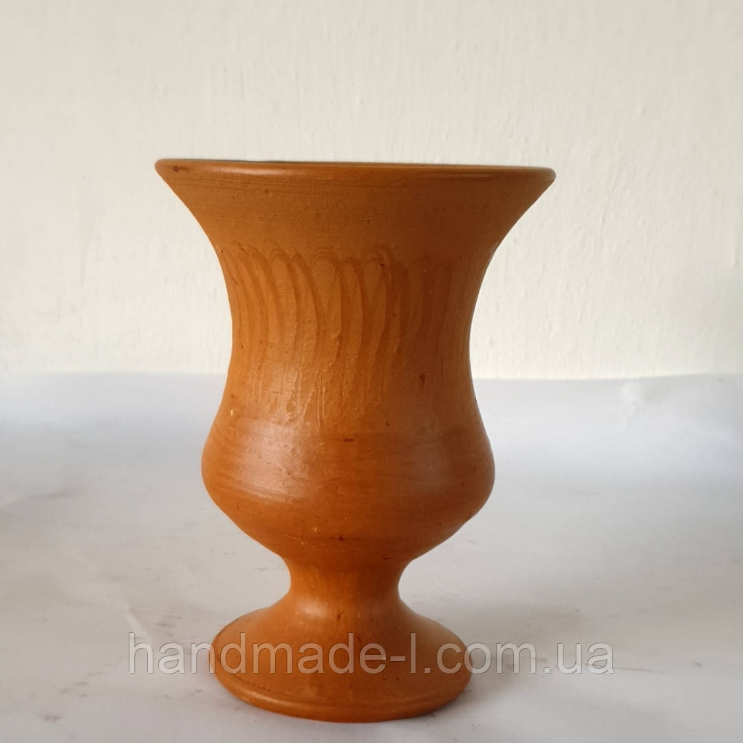 Фужер глиняний для вина та глінтвейну+-250 мл