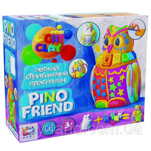 Набор легкого прыгающего пластилина ТМ Moon Light Clay Pino Friend Пуффи(9) 70034