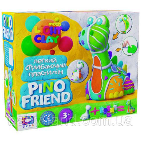 Набор легкого прыгающего пластилина ТМ Moon Light Clay Pino Friend Барди (9) 70036