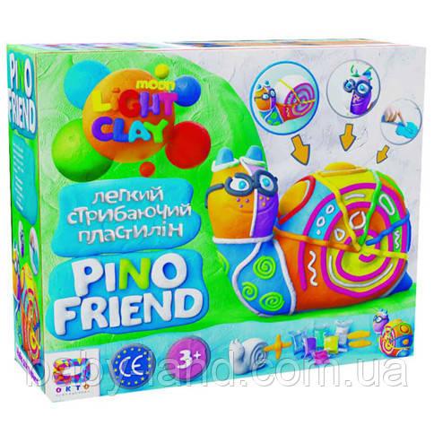 Набор легкого прыгающего пластилина ТМ Moon Light Clay Pino Friend Райли (9) 70037