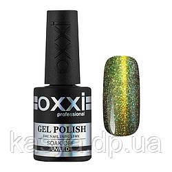 Гель-лак Chameleon Lux OXXI 003 зеленый хамелеон с золотистым магнитным бликом, 10мл