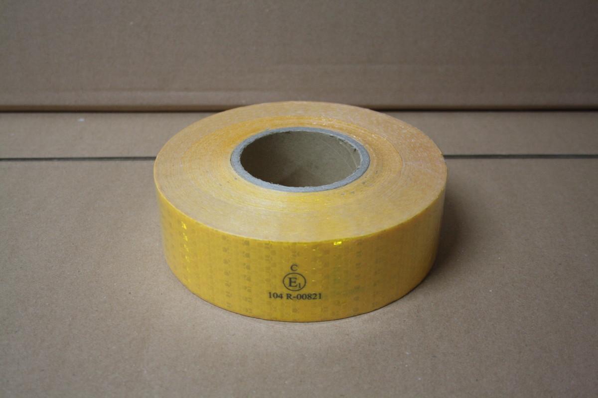 Лента светоотражающая желтая 1 сорт