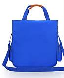 Вместительная школьная сумка синяя с ремешком через плечо для мальчика 2 - 3 - 4 - 5 класс, фото 3