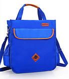 Вместительная школьная сумка синяя с ремешком через плечо для мальчика 2 - 3 - 4 - 5 класс, фото 2
