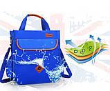Вместительная школьная сумка синяя с ремешком через плечо для мальчика 2 - 3 - 4 - 5 класс, фото 4