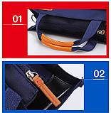 Вместительная школьная сумка синяя с ремешком через плечо для мальчика 2 - 3 - 4 - 5 класс, фото 7
