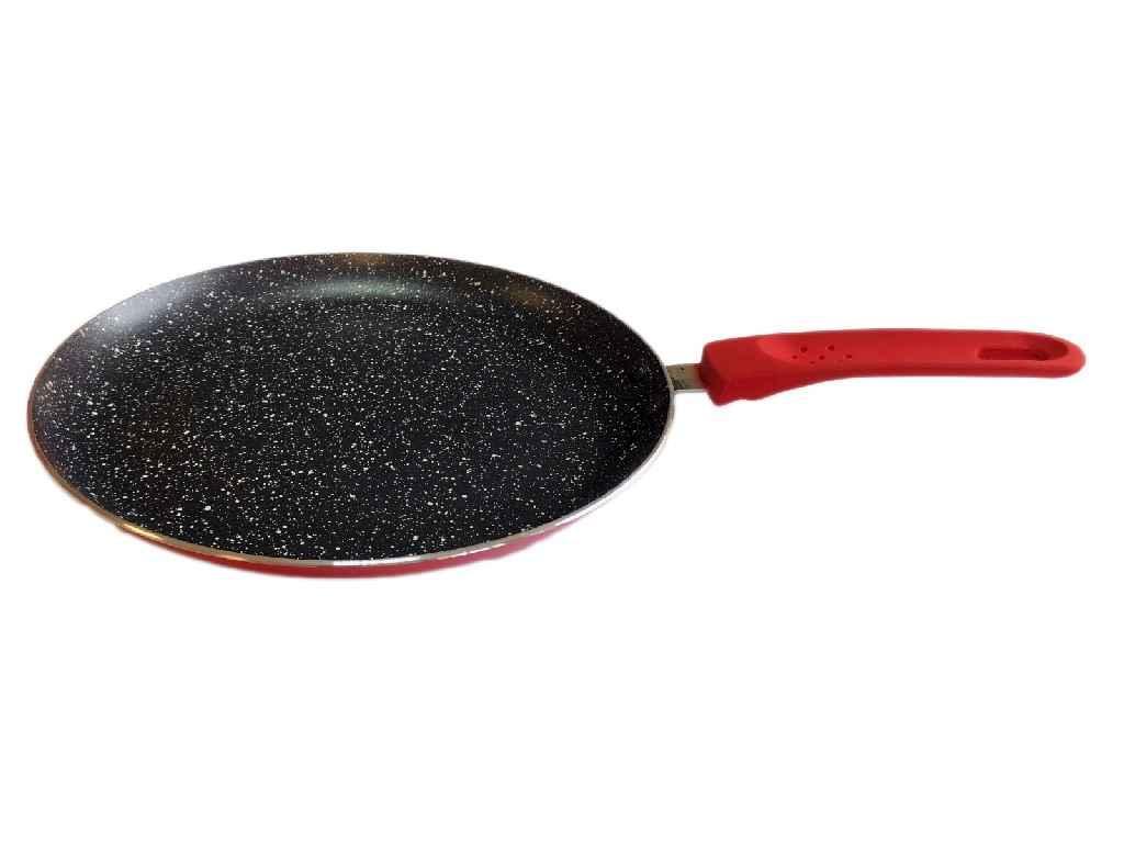 Сковорода СВ2224 червоний, 22см, млинці, Eco Granite, Індукція ТМCON BRIO