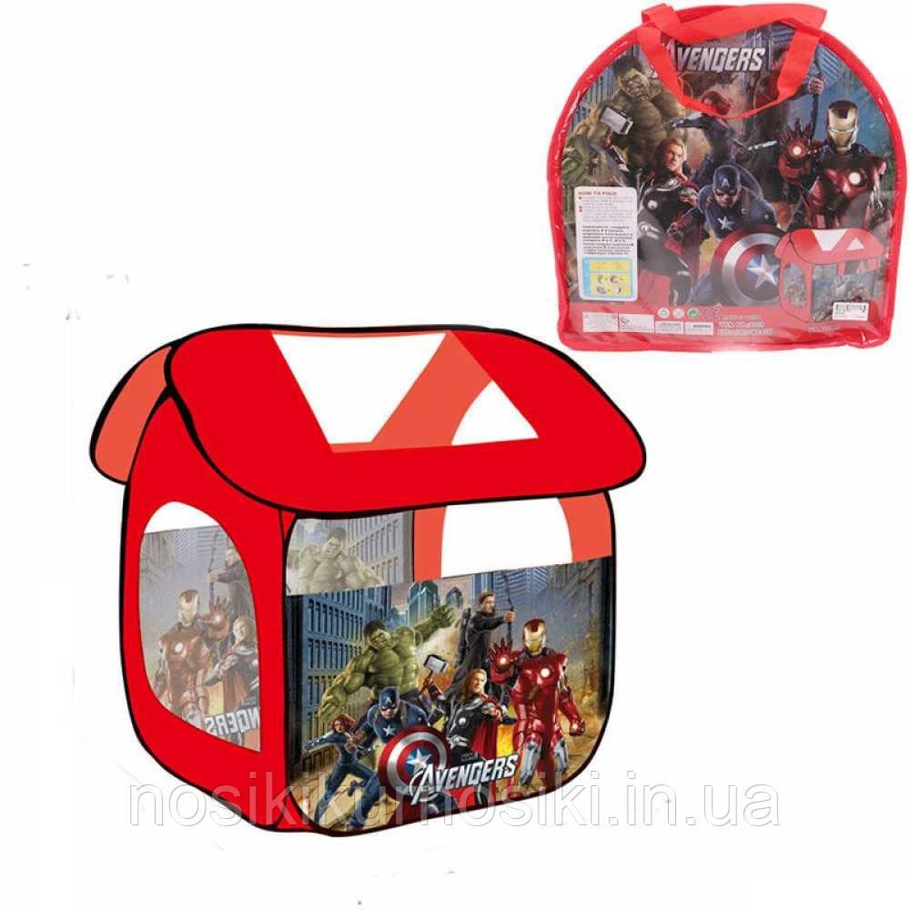 Палатка детская 8009 домик Супергерои, размер 114-102-112 см, в сумке