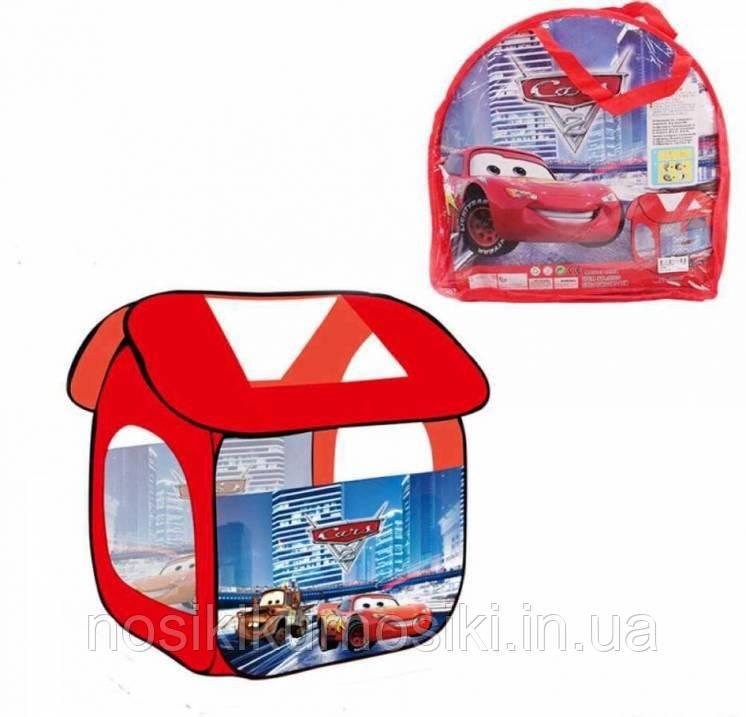 Палатка детская 8009 домик Тачки, размер 114-102-112 см, в сумке