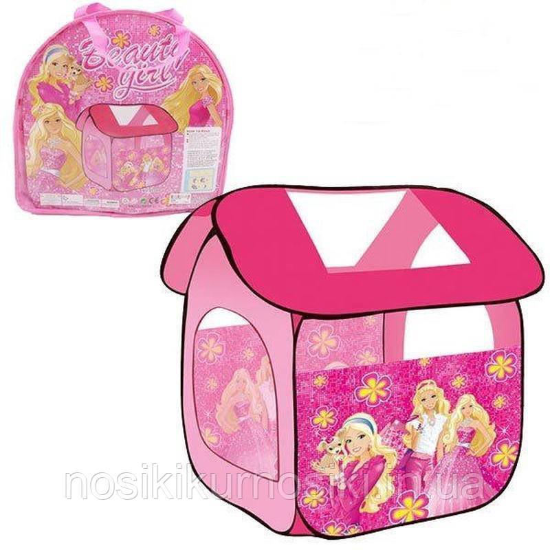 Палатка детская 8009 домик Принцессы, размер 114-102-112 см, в сумке