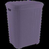 Корзина для белья Flexi 55 л тёмно-фиолетовая