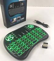 Беспроводная мини-клавиатура Mini Keyboard i8 с подсветкой Чёрная, фото 1