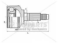 ШРУС правый внутренний с ABS 2.2 CRDI D4EB HYUNDAI Santa Fe 06-09