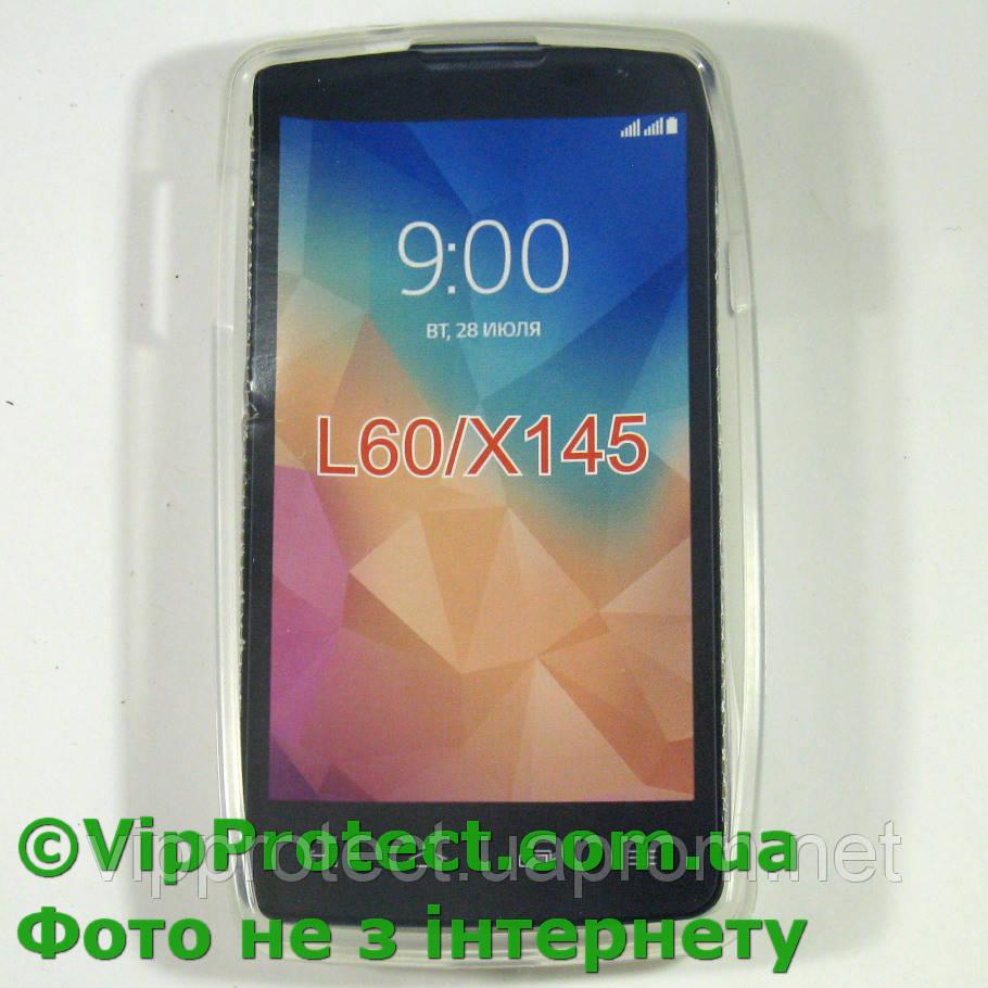 LG_X145_L60, білий чохол силіконовий