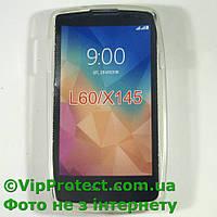 LG_X145_L60, белый силиконовый чехол, фото 1