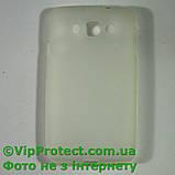 LG_X145_L60, білий чохол силіконовий, фото 2