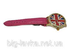 Модные женские часы Английский флаг  Розовый
