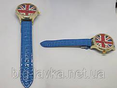 Модные женские часы Британский флаг  Синий