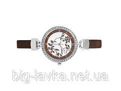 Женские наручные часы со стразами Fashion 2011  коричневый