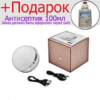 Портативная колонка М8 Bluetooth матовый, светильник RGB, радио