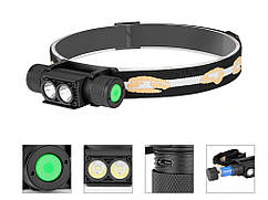 Светодиодный налобный фонарик Boruit XM-L2 USB