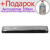Губна гармошка Harmonica для початківців Срібний