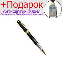 Металлическая подарочная ручка Черная с золотом