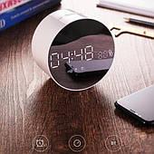 Годинник дзеркало JOYROOM з бездротовий колонкою 3 в 1 Будильник, Bluetooth, Радіо, Вологозахист,MicroSD, Білі