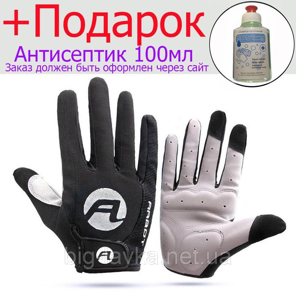 Противоскользящие велосипедные перчатки Arbot  Черный