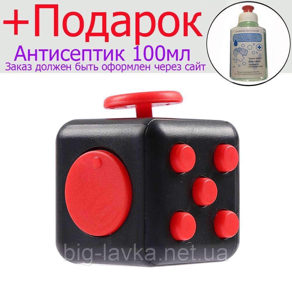 Кубик антистресс  Черный с красным